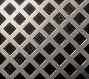 Nevada 10mm Diamond Hole Silver Grille Anodised Aluminium Sheet 1000mm x 660mm x 1mm